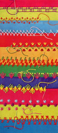 colourful stitching