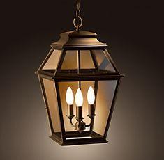 Like this pendant lantern from restorationhardware.com