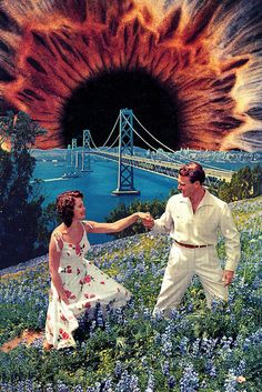 Yerba Buena by Eugenia Loli Collage Pop Art Artists, Collage Artists, Art Collages, Surreal Collage, Surreal Art, Art Pop, Psychedelic Art, Photomontage, Eugenia Loli