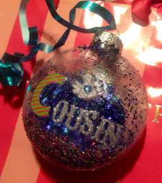 Angel+Cousin+Glitter+Ornament+Great+Gift+by+HopesSassyGlass+on+Etsy