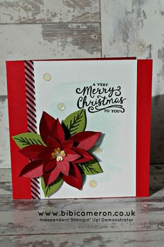 paper poinsettia stampin up