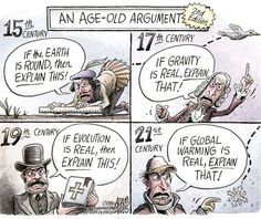 An Age-Old Argument (though they knew very well that the earth was round in the 15th c)