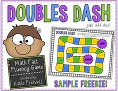 This is a FREE doubles game to practice addition doubles facts! All you need to do is print and add dice! It's a simple game, and a GREAT way to get your students practicing those fast facts!This product is a SAMPLE of my larger product: Doubles Addition Doubles, Math Doubles, Doubles Facts, Math Addition, Addition Games, Math Strategies, Math Resources, Math Activities, Free Math Games