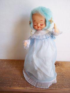 Rare Vintage 1950s 60s Angel Blue Hair by SPARKLESandSASS on Etsy, $18.00
