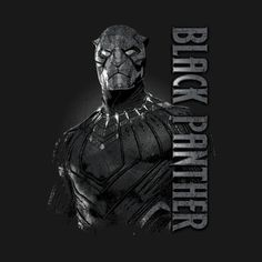 Shop Blk Panther black panther t-shirts designed by cashfish as well as other black panther merchandise at TeePublic. Black Panther Marvel, Black Panther Movie 2018, Black Panther King, Black Panther T Shirt, Marvel Films, Marvel Heroes, Marvel Cinematic, Marvel Villains, Character Drawing