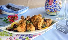pressure cooker chicken with lemons and olives recipe -- uses whole chicken