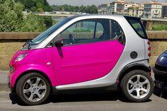 Pink Smart Car.