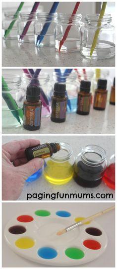 DIY Aromatherapy Water Colours. Beautiful sensory play idea!