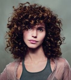 curly with bangs - Pesquisa Google