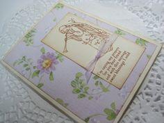 Handmade Stamped Greeting Card  Vintage Inspired Angel by wkburden, $1.99