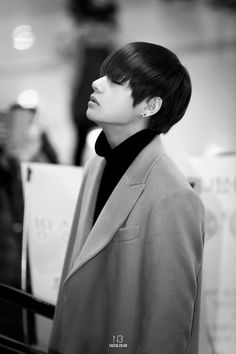 Black and White Perfectionism @@ TaeTae, you're at the airport, remember? It's not okay to have that posture..