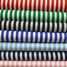 3mm Candy Stripes On White Craft Dress Polycotton Fabric Poly Cotton | eBay