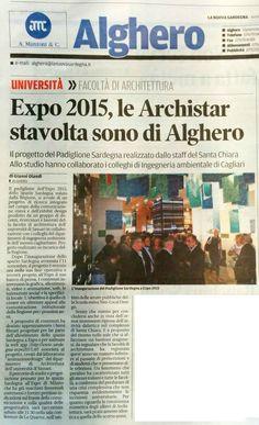 La Nuova Sardegna, 15 settembre 2015 #EXPO #AaA