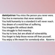 For this #poetrythatimpacts I give you a piece by @danielyetman . I do admit I have been on a truth poetry binge as of late but this one was just too intense to not feature. The fact that is beyond cut dry and to the point only adds to the fact that no body ever admits this to themselves let alone expresses this very real very human comfort zone that we tend to wrap ourselves in to the point of emotional suffocation. It may seem odd to be so exstatic about something of this nature but it…