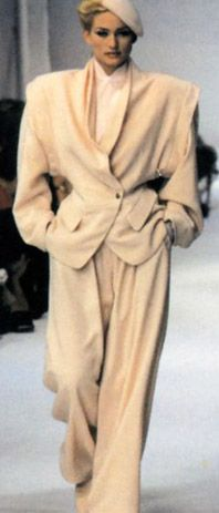 Thierry Mugler 1983 --looks more MONTANA, but in any case--are the shoulders a bit TOO big?