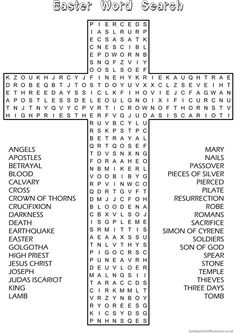 Easter Word Search - Sunday School Activity:
