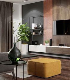 "Apartament 3 camere - Complex ""Nordis"" București - Creativ-Interior Minimalism, Creative, Modern, Design, Granite Counters, Trendy Tree"