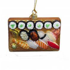 """4"""" NOBLE GEMS GLASS SUSHI PLATTER Ornament"""
