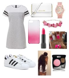 """""""Untitled #82"""" by vpiota ❤ liked on Polyvore featuring adidas, MICHAEL Michael Kors, J.Crew, Aéropostale, Bite and Chanel"""