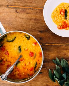 These aromatic red lentils, masoor dal, are a hearty, delicious south Indian staple.