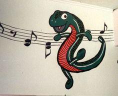 "Dancing Animals Scroll Part 6   320"" x 36""    Location: De Lacey School, Carpentersville, IL"