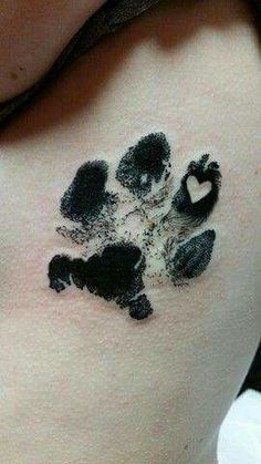 Lovely paw print tattoo, I already have my cats paw print. to tattoo it I need to find reputable tattoo artist. I would like to get this tattoo on my rust!