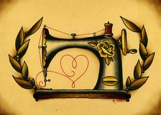 5x7 Sewing Machine Love Fine Art Giclee Print por Rebekart en Etsy