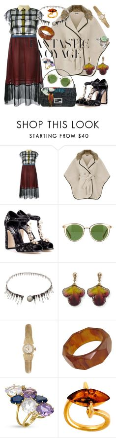 """""""Come along and ride on my Fantastic Voyage."""" by jeniferkcarsrud ❤ liked on Polyvore featuring Marco de Vincenzo, WearAll, H&M, Fendi, Dolce&Gabbana, Oliver Peoples, Colette Jewelry, Silvia Furmanovich, Vintage and Be-Jewelled"""