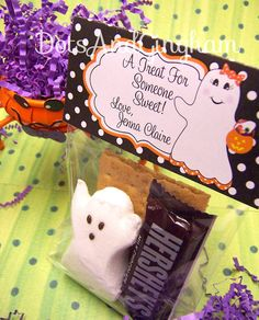 Halloween Treat Bag TopperPrintable Halloween by DotsAndGingham