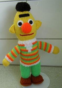 Bert van Sesamstraat met patroon  Het patroon van Ernie staat ook op dit bord