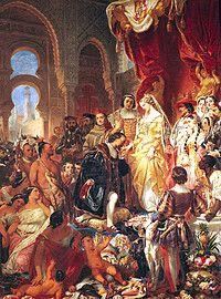 Gebeurtenis: Dit is Columbus hij heeft als aller eerste een wereldreis afgelegd naar Amerika terwijl hij zelf dacht dat hij in India was aangekomen dus hij noemde de bewoners INDIANEN en hij bleef dit tot zijn dood vol houden. Op de afbeelding hierboven zie je Columbus die zijn verhaal verteld over zijn rijs.