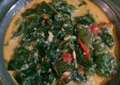 Daun singkong kuah santan foto resep utama Seaweed Salad, Palak Paneer, Ethnic Recipes, Food, Essen, Yemek, Meals