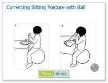 Correcting Sitting Posture with the Ball