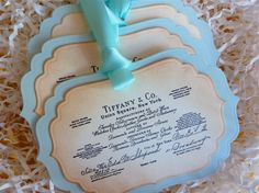 Weddings Shower Tiffany Wish Tree Tags Vintage by ifiwerecards, $7.50