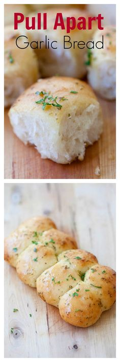 Buttery pull apart garlic bread - easy, fool proof and yields the BEST garlic bread ever | great side for dinner.