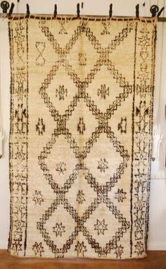 Vintage Moroccan Beni Ourain Carpet 2578