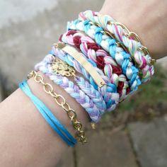 Boho - chain and satin - blue di She Bijou - personalized jewelry su DaWanda.com