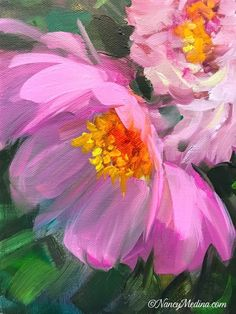 """Daily Paintworks - """"Pink Parasol Peony"""" - Original Fine Art for Sale - © Nancy Medina Maltechniken Acrylic Painting Flowers, Abstract Flowers, Watercolor Flowers, Watercolor Paintings, Canvas Paintings, Peony Painting, Paint Flowers, Drawing Flowers, Floral Paintings"""