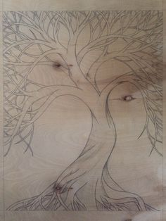 Plywood carving sketch