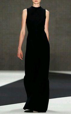 love minimal style robe noire black dress
