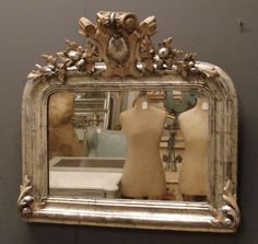AMAZING! Gorgeous antique French mirror... that carved frame!!!