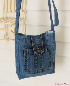 Сумки, сумочки, рюкзаки! Всё из джинсов!