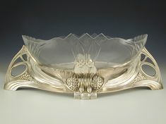 WMF Art Nouveau glass centrepiece, Germany, c.1906.