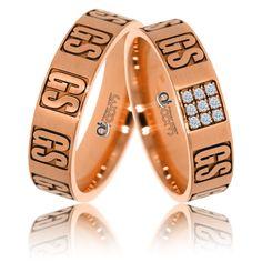 O pereche de verighete din aur roz cu aspect distins si design plin de originalitate. Love Bracelets, Cartier Love Bracelet, Bangles, Jewelry, Bracelets, Jewlery, Jewerly, Cartier Love Bangle, Schmuck