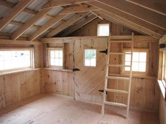 12x18 Bunk House - Barn sash windows all around provide this space with lots of light.