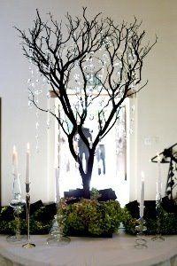 Tree Branch Decor tree branch centerpieces ideas | reception wedding flowers