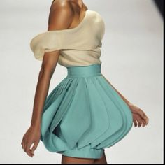 Sway With Me, project runway dress, blue, ruffles