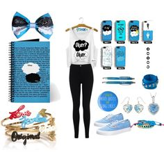 The Fault In Our Stars - Necklace,Bracelet,Booklet,Bow,Top,Trousers,Shoes,Earrings -Outfit.