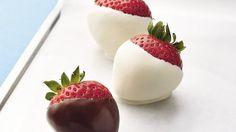 Create an easy, impressive dessert by dipping juicy strawberries in sweet chocolate.