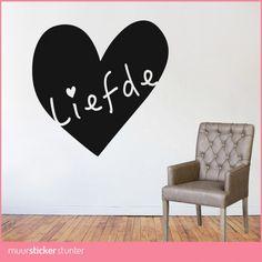 hart-muurstickers-liefde-love woonkamer slaapkamer